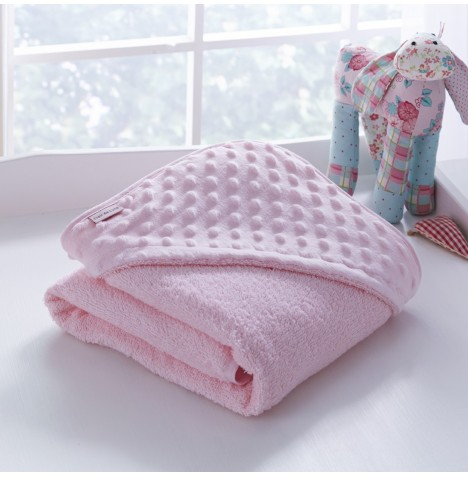 Clair De Lune Luxury Hooded Towel - Dimple Pink